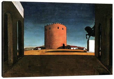 The Red Tower Canvas Art Print