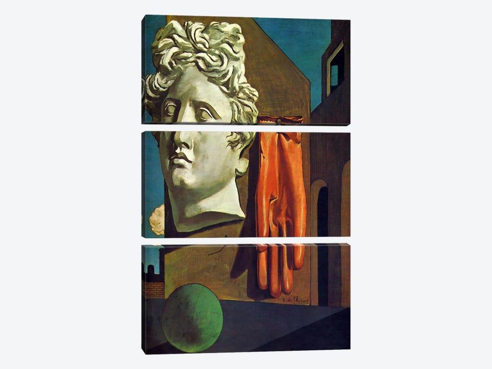 The Song of Love by Giorgio de Chirico 3-piece Canvas Art