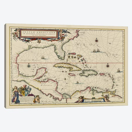West Indies, Central America, 1635 Canvas Print #11256} by Unknown Artist Canvas Print