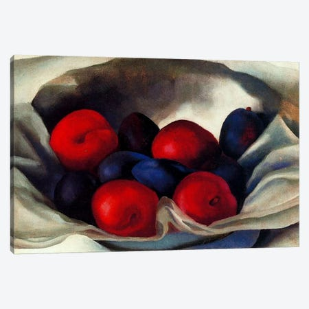 Plums Canvas Print #11266} by Georgia O'Keeffe Canvas Art