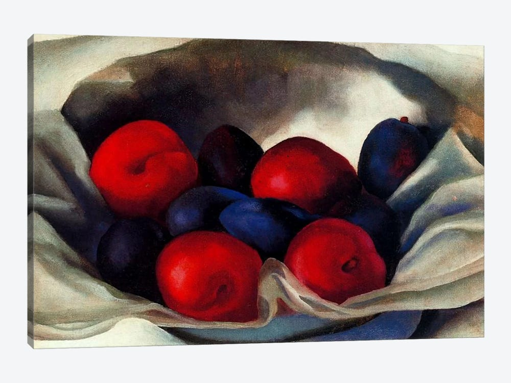 Plums by Georgia O'Keeffe 1-piece Canvas Art Print
