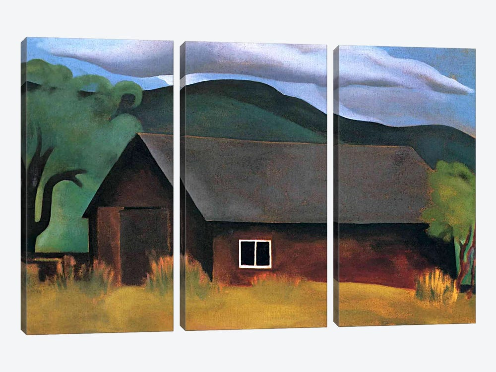 My Shanty, Lake George by Georgia O'Keeffe 3-piece Canvas Wall Art