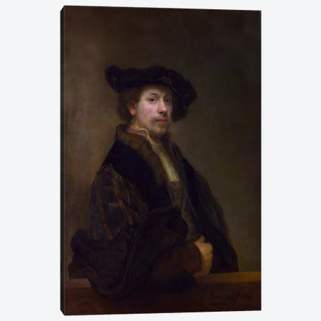 Self Portrait at the Age of 34 1640 Canvas Print #1126} by Rembrandt van Rijn Canvas Artwork