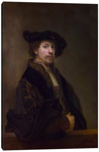 Self Portrait at the Age of 34 1640 Canvas Art Print
