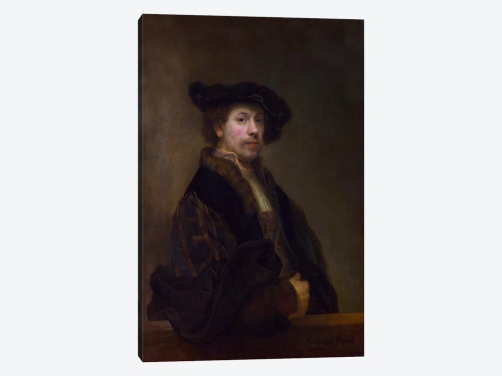Self Portrait at the Age of 34 1640 by Rembrandt van Rijn 1-piece Art Print