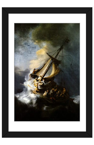 The Storm on the Sea of Galilee Framed Art Print