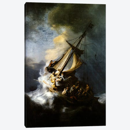 The Storm on the Sea of Galilee Canvas Print #1127} by Rembrandt van Rijn Canvas Artwork