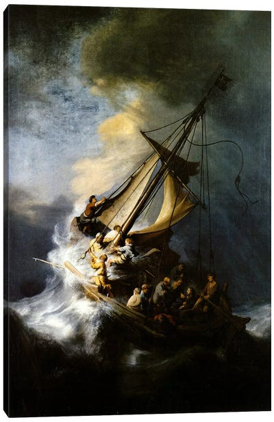 The Storm on the Sea of Galilee by Rembrandt van Rijn Canvas Artwork