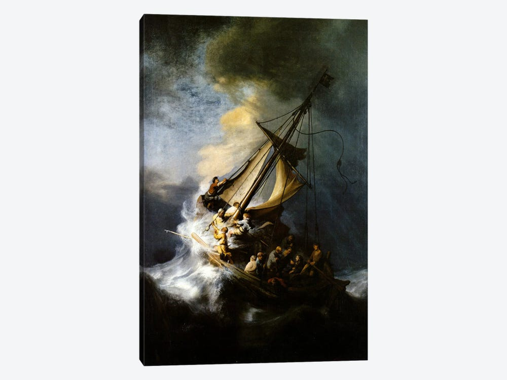 The Storm on the Sea of Galilee by Rembrandt van Rijn 1-piece Canvas Wall Art