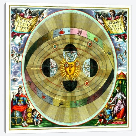 Harmonia Macrocosmica (CellariusAndreas) Canvas Print #11286} by Andrea Cellarius Canvas Wall Art