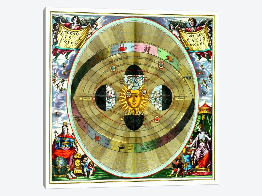 Harmonia Macrocosmica (CellariusAndreas) by Andreas Cellarius 1-piece Canvas Art Print