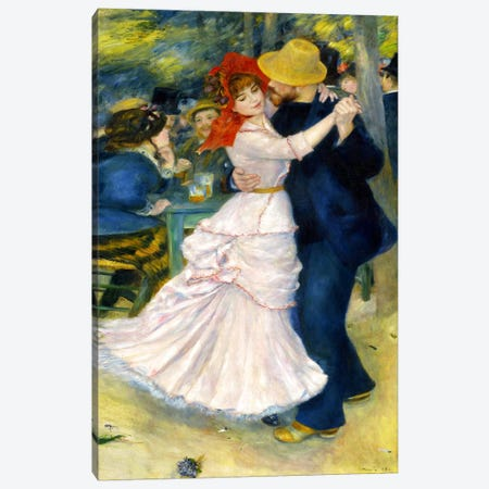Dance at Bougival Canvas Print #1128} by Pierre-Auguste Renoir Canvas Print