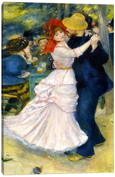 Dance at Bougival by Pierre-Auguste Renoir Canvas Print