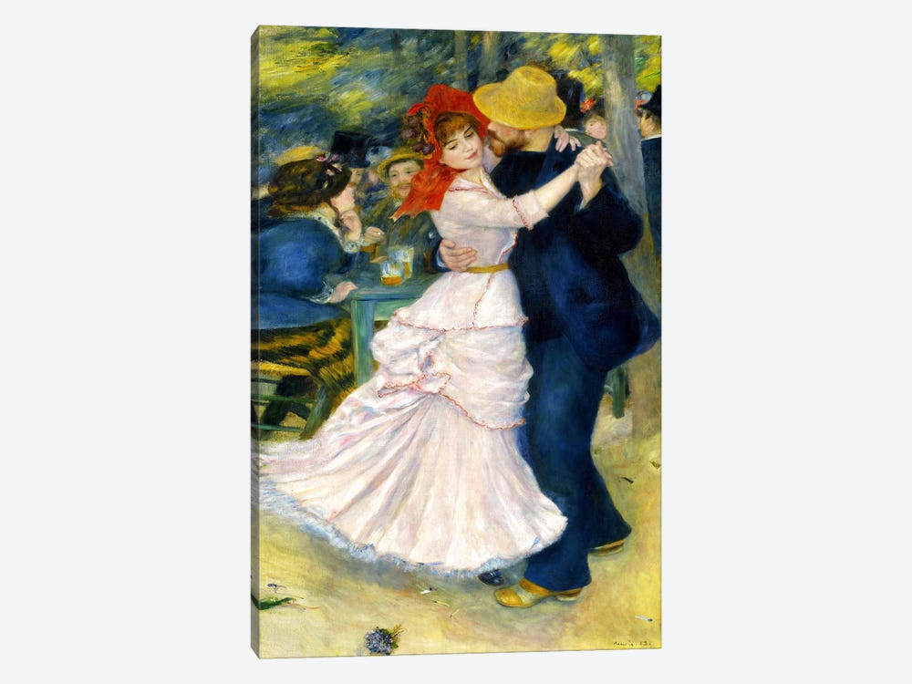 Dance at Bougival by Pierre-Auguste Renoir 1-piece Art Print