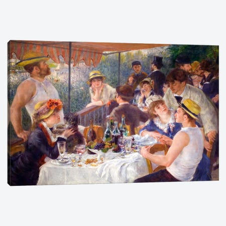 The Luncheon of the Boating Party 1881 Canvas Print #1129} by Pierre-Auguste Renoir Canvas Print