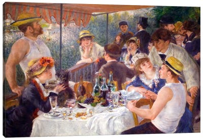 The Luncheon of the Boating Party 1881 by Pierre-Auguste Renoir Canvas Print