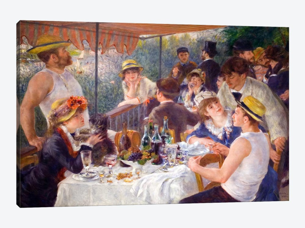 The Luncheon of the Boating Party 1881 by Pierre-Auguste Renoir 1-piece Canvas Artwork