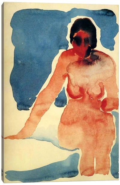 Seated Nude Canvas Art Print