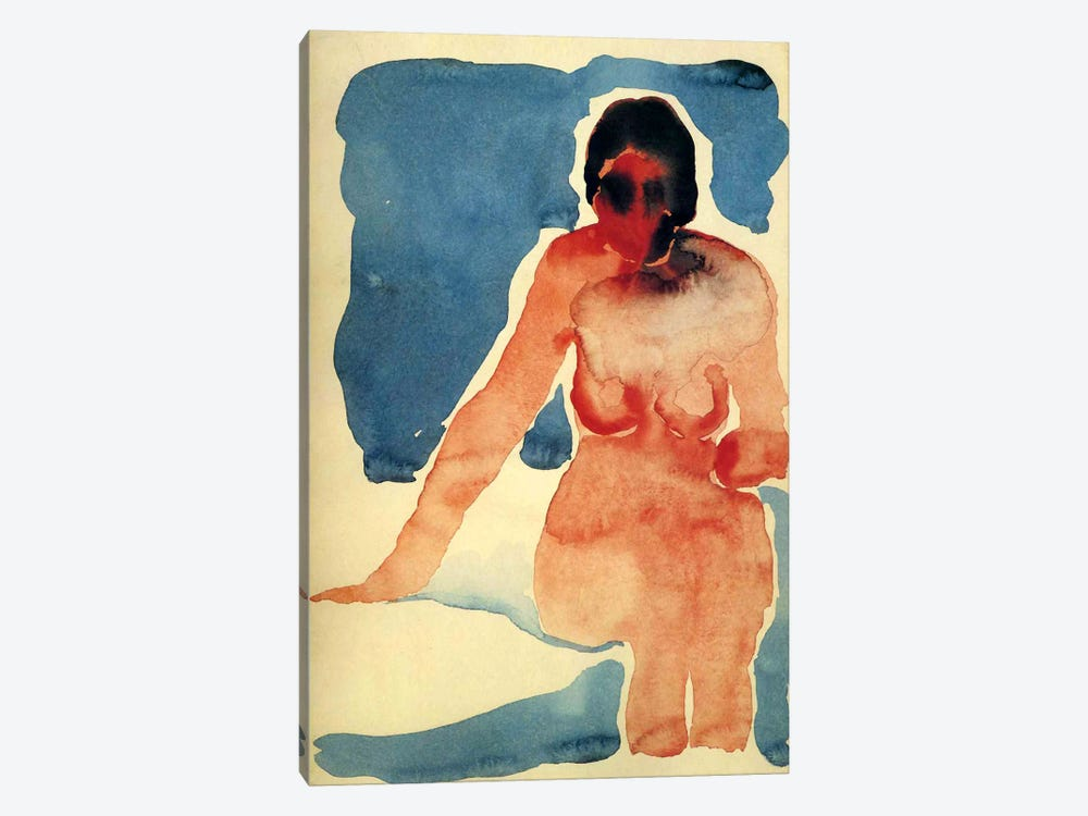 Seated Nude by Georgia O'Keeffe 1-piece Canvas Artwork