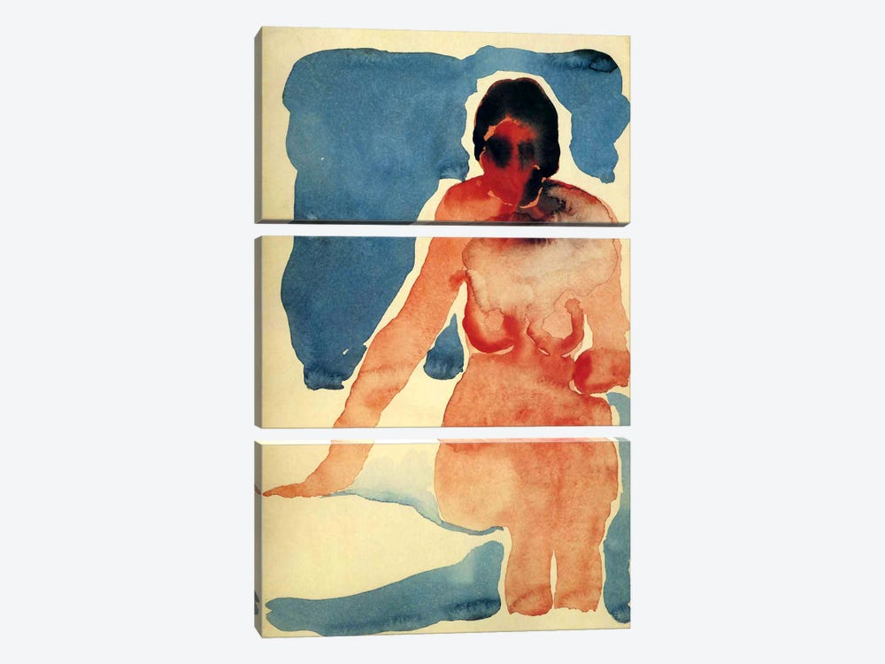 Seated Nude by Georgia O'Keeffe 3-piece Canvas Artwork