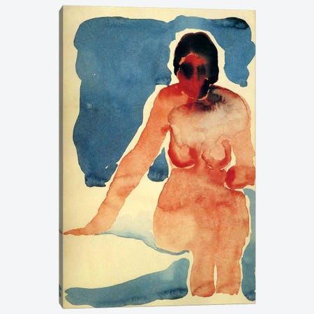 Seated Nude Canvas Print #11306} by Georgia O'Keeffe Canvas Print