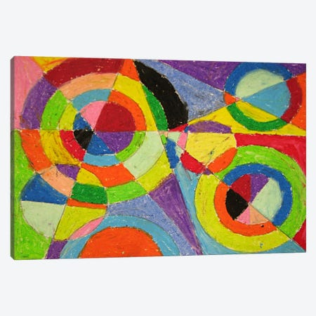 Color Explosion Canvas Print #11309} by Robert Delaunay Canvas Artwork