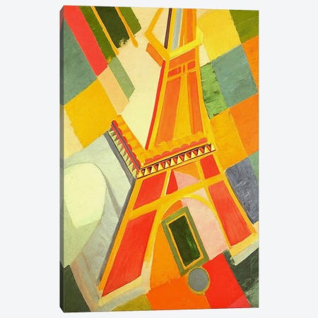 Eiffel Tower Canvas Print #11311} by Robert Delaunay Art Print