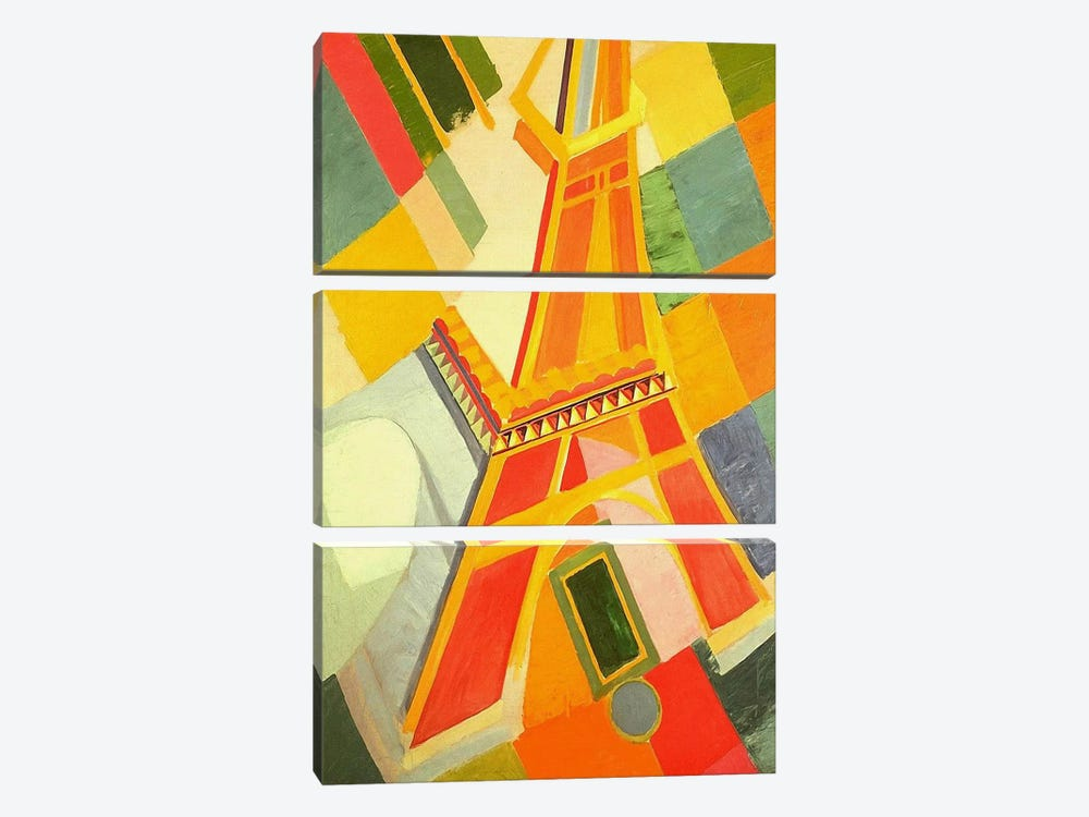 Eiffel Tower by Robert Delaunay 3-piece Canvas Art