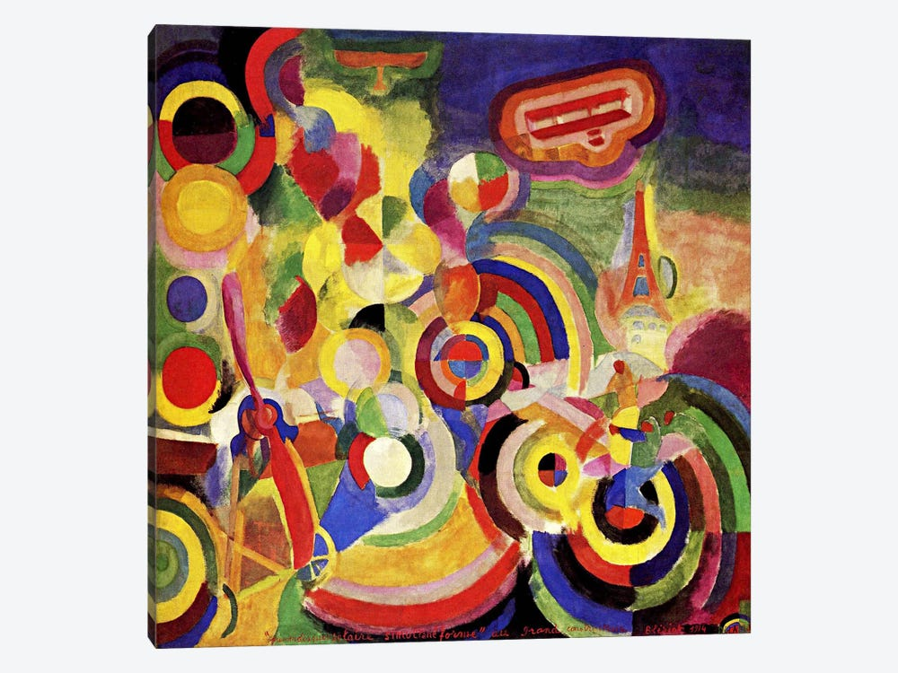 Homage to Bleriot by Robert Delaunay 1-piece Art Print