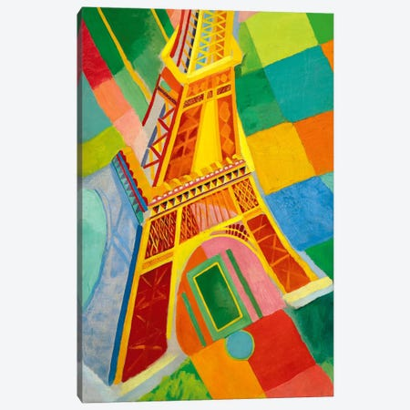Tour Eiffel (Tower) Canvas Print #11316} by Robert Delaunay Canvas Artwork