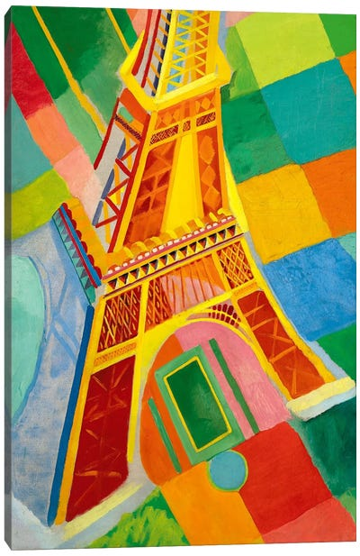 Tour Eiffel (Tower) by Robert Delaunay Canvas Artwork