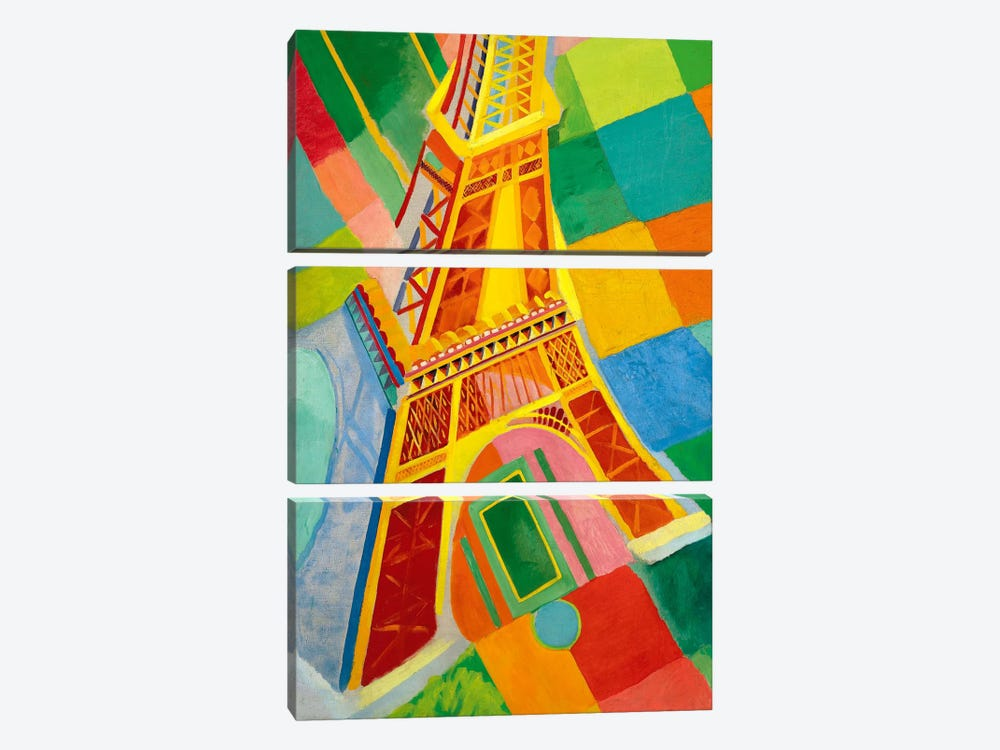 Tour Eiffel (Tower) by Robert Delaunay 3-piece Canvas Print