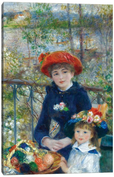 Two Sisters (On the Terrace) 1881 Canvas Art Print