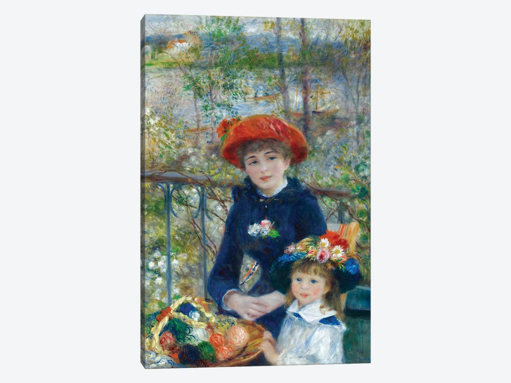Two Sisters (On the Terrace) 1881 by Pierre-Auguste Renoir 1-piece Art Print