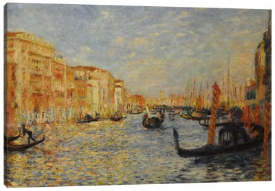 Grand Canal Venice by Pierre-Auguste Renoir Canvas Wall Art