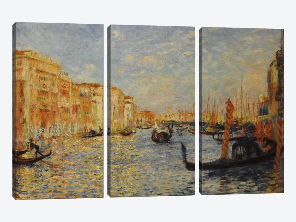 Grand Canal Venice by Pierre-Auguste Renoir 3-piece Canvas Artwork