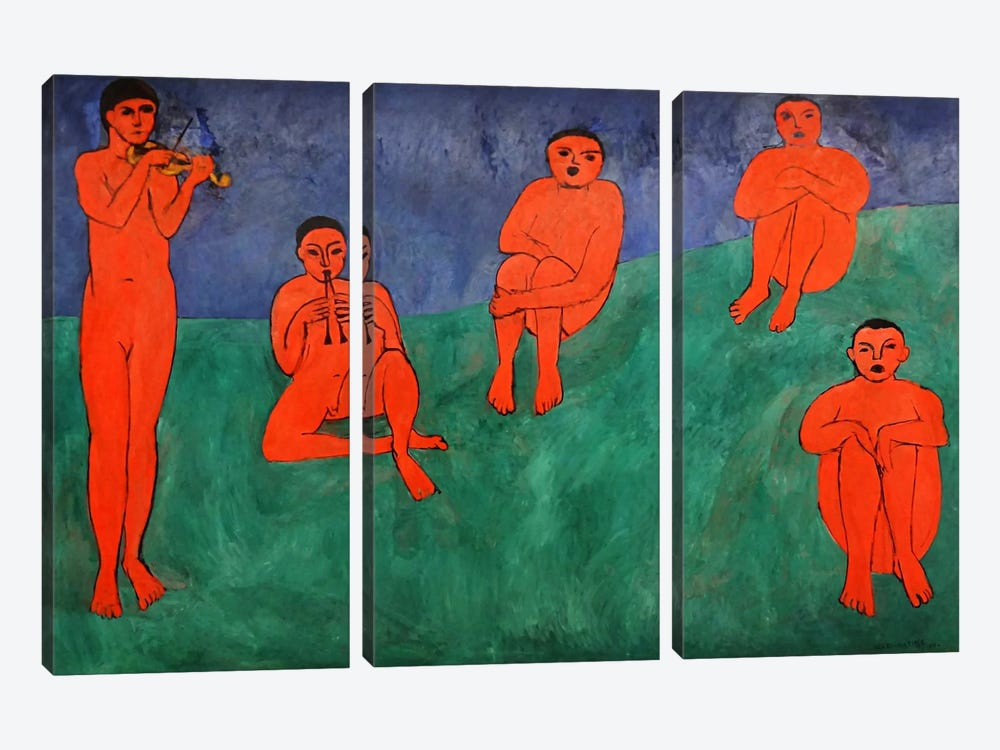 Music by Henri Matisse 3-piece Canvas Artwork