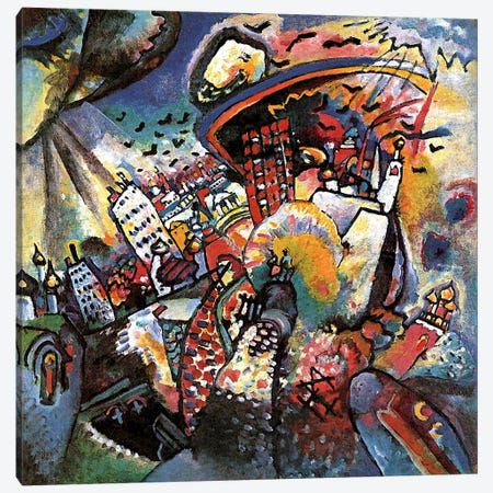 Moscow II Canvas Print #11361} by Wassily Kandinsky Canvas Art