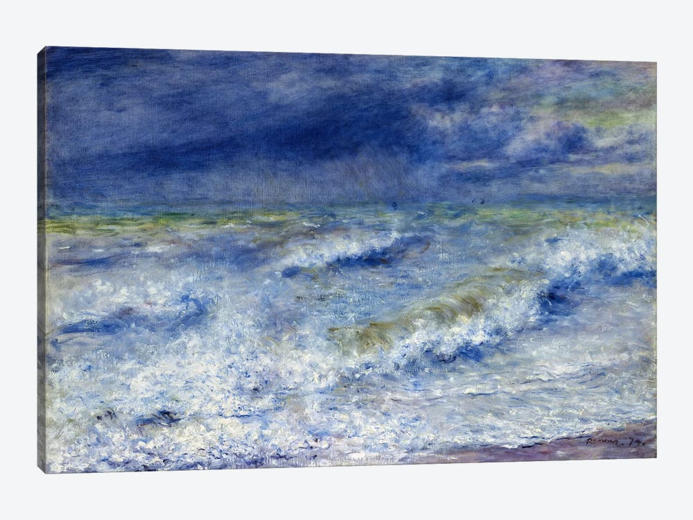 La vague 1879 by Pierre-Auguste Renoir 1-piece Canvas Art Print