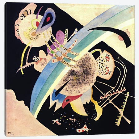 "Study for ""Circles on Black"" Canvas Print #11380} by Wassily Kandinsky Canvas Art"
