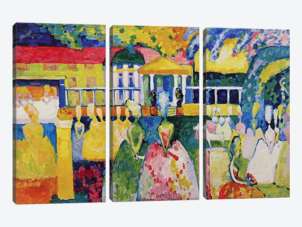 Crinolines by Wassily Kandinsky 3-piece Canvas Artwork