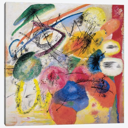 Black Lines Canvas Print #11388} by Wassily Kandinsky Canvas Wall Art