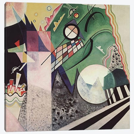 Green Composition Canvas Print #11399} by Wassily Kandinsky Canvas Print