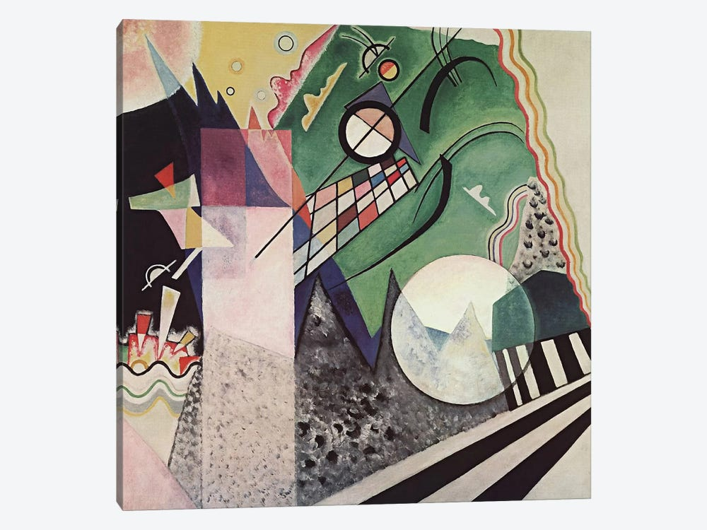 Green Composition by Wassily Kandinsky 1-piece Canvas Wall Art