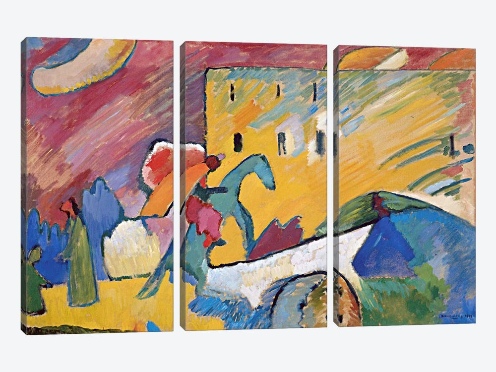 Improvisation 3 by Wassily Kandinsky 3-piece Canvas Print