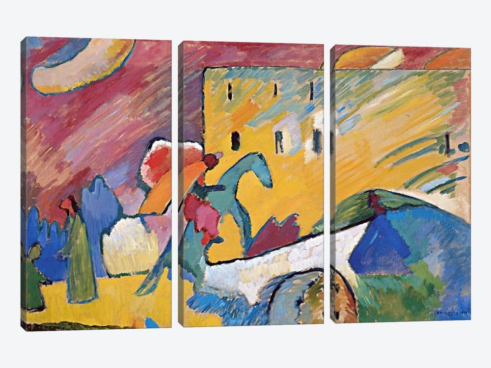 Improvisation 3 by Wassily Kandinsky 3-piece Canvas Print