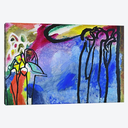 Improvisation 19 Canvas Print #11402} by Wassily Kandinsky Canvas Art Print