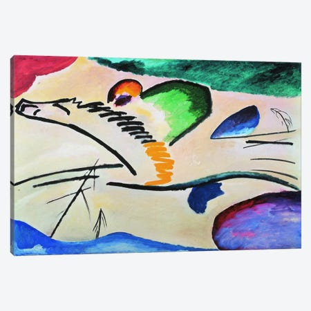 Lyrically (Lyrisches) Canvas Print #11406} by Wassily Kandinsky Canvas Wall Art