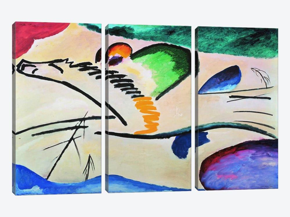 Lyrically (Lyrisches) by Wassily Kandinsky 3-piece Canvas Print
