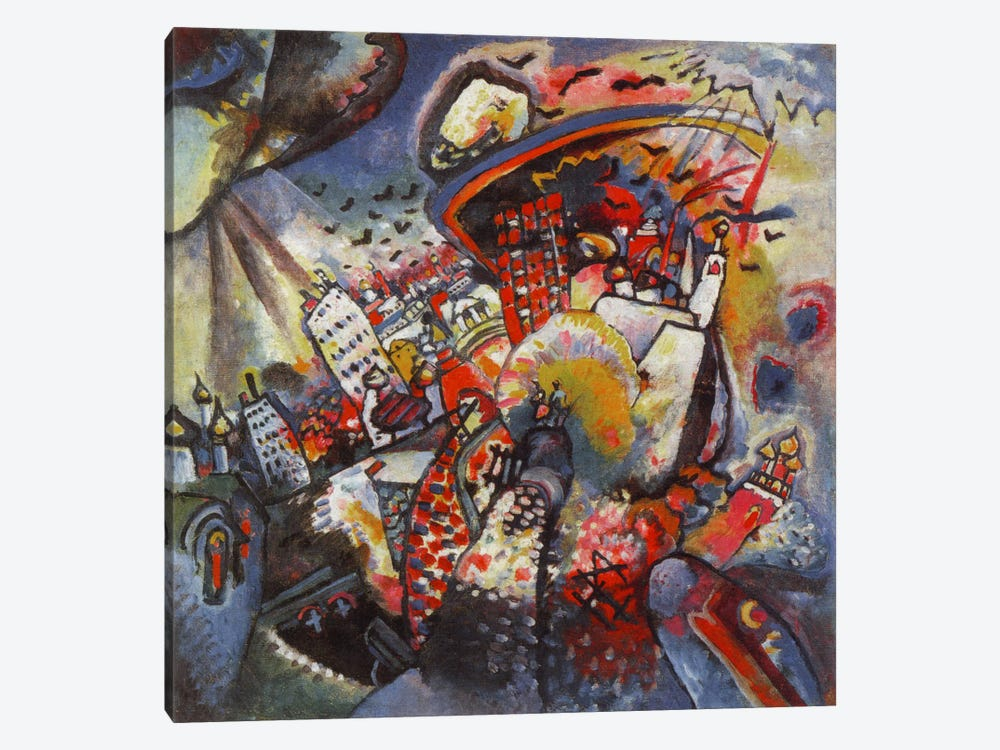 Moscow by Wassily Kandinsky 1-piece Canvas Art